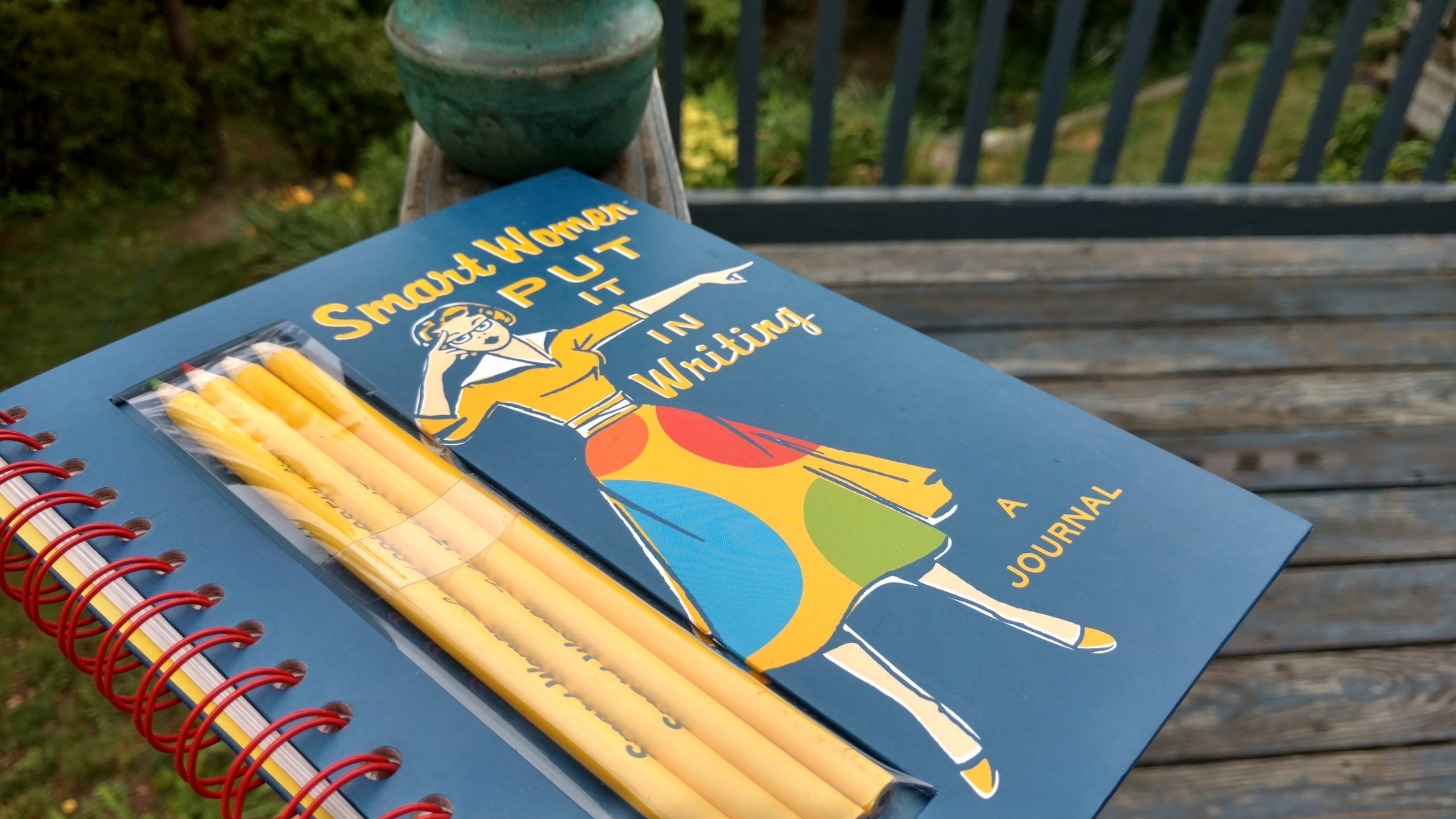 Image of a journal with pencils